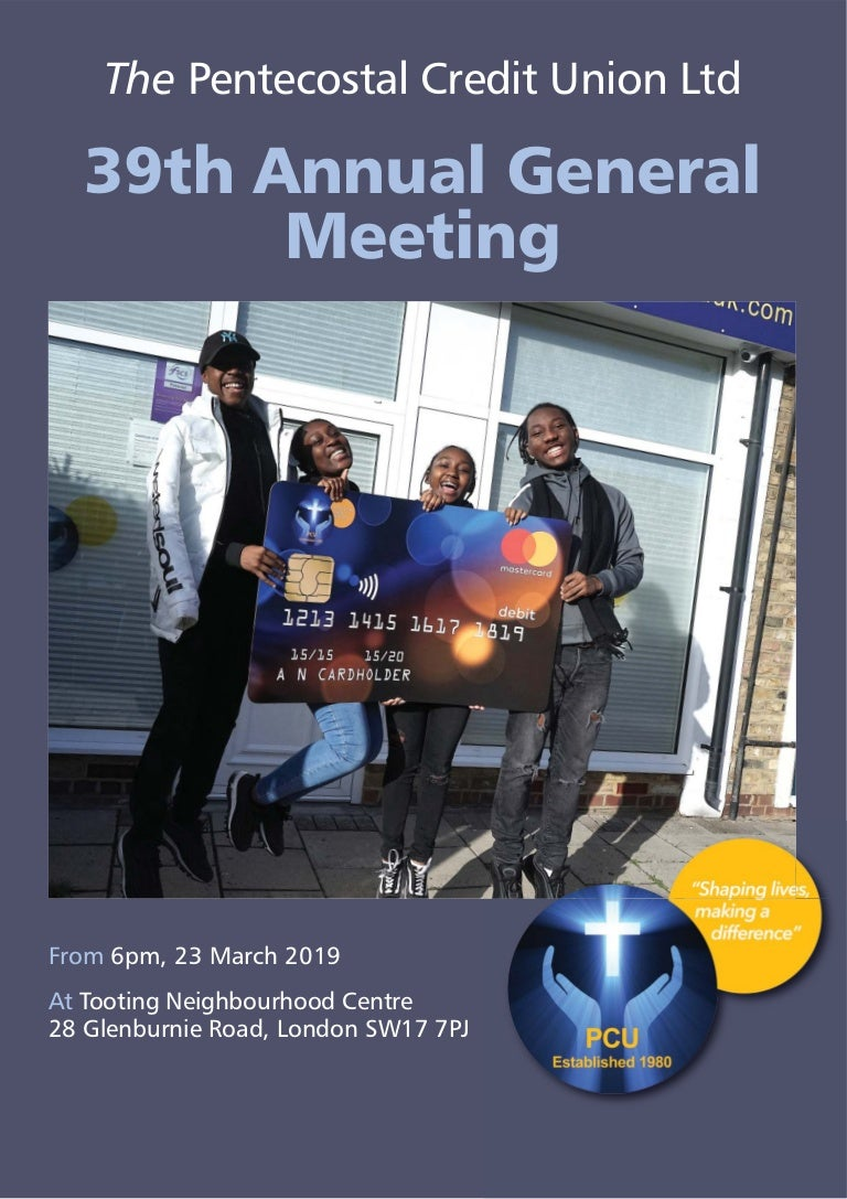 The Pentecostal Credit Union Ltd - 39th Annual General Meeting