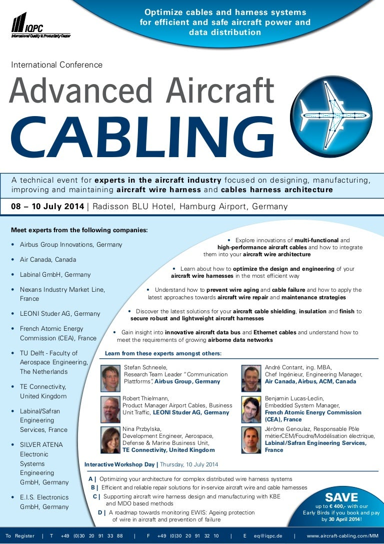 International Conference Aircraft Cabling Wiring Harness