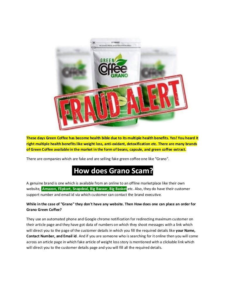Green Coffee Grano Fraud