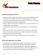 Checkliste Geburtstagsparty