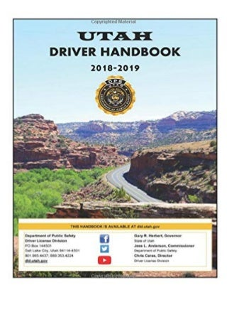 PDF Download Utah Driver Handbook 2018 2019 full