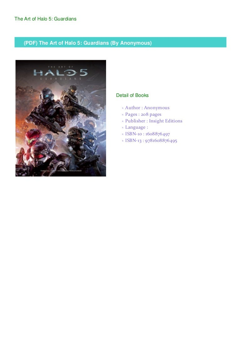 Pdf The Art Of Halo 5 Guardians By Anonymous