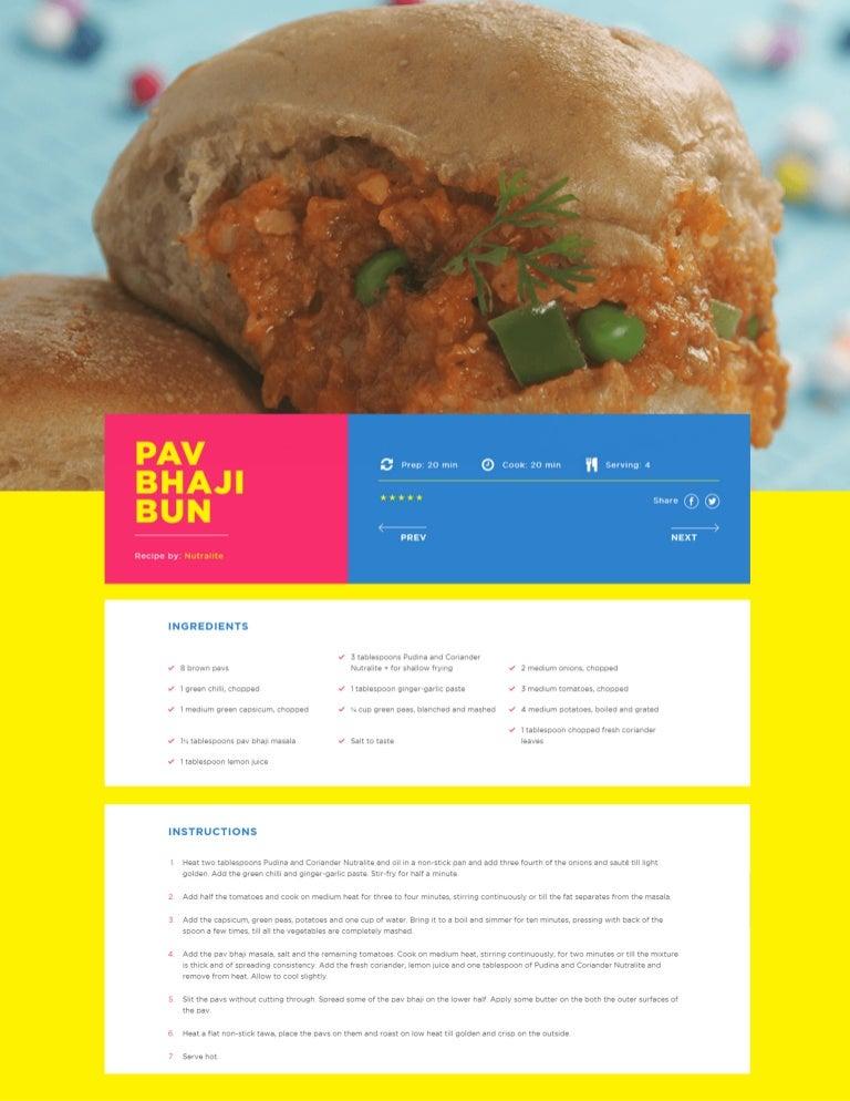 Recipe pav pdf bhaji