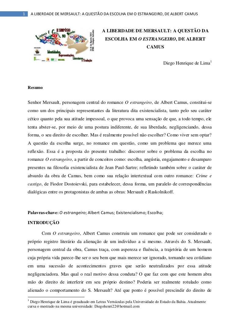 Estrangeiro pdf o