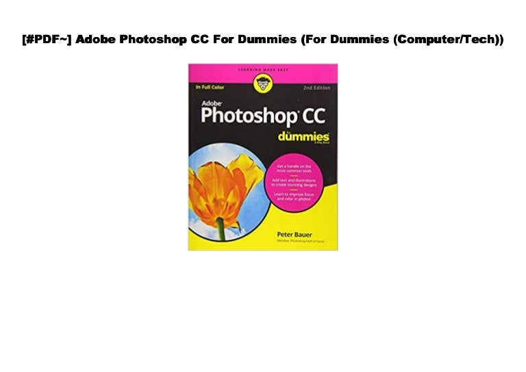 Pdf Adobe Photoshop Cc For Dummies For Dummies Computer Tech