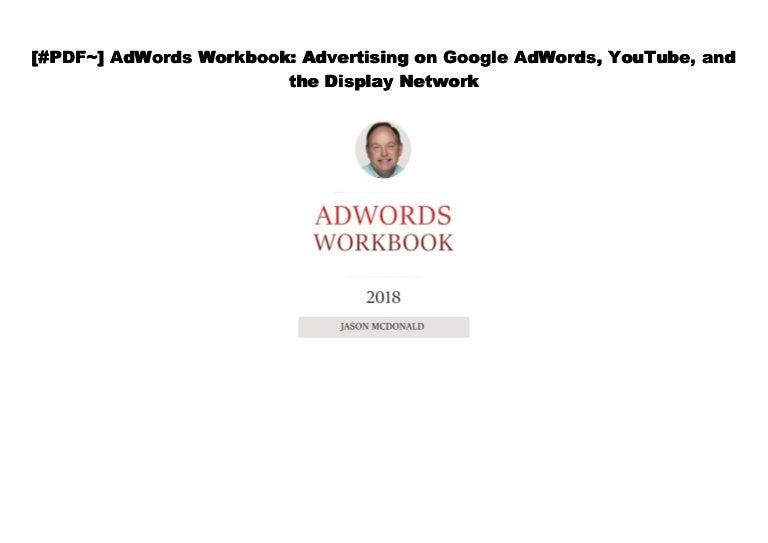 [txt] AdWords Workbook: Advertising on Google AdWords