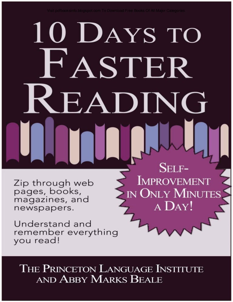 Pdfbooksinfospot 10 days to faster reading fandeluxe Choice Image