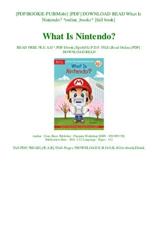 [PDF] DOWNLOAD READ What Is Nintendo online_books