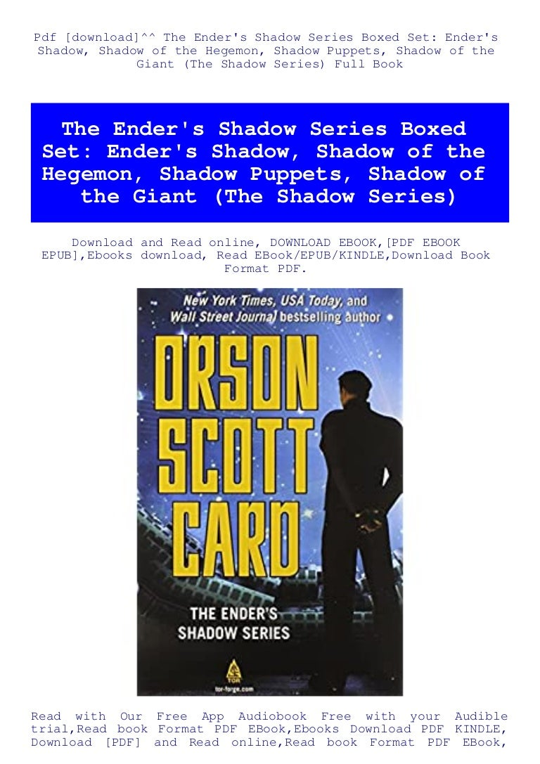 Free Pdf [download]^^ The Ender's Shadow Series Boxed Set Ender's Shadow …