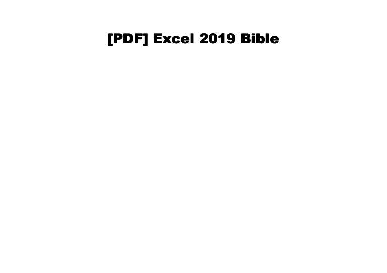 Audiobook] Excel 2019 Bible