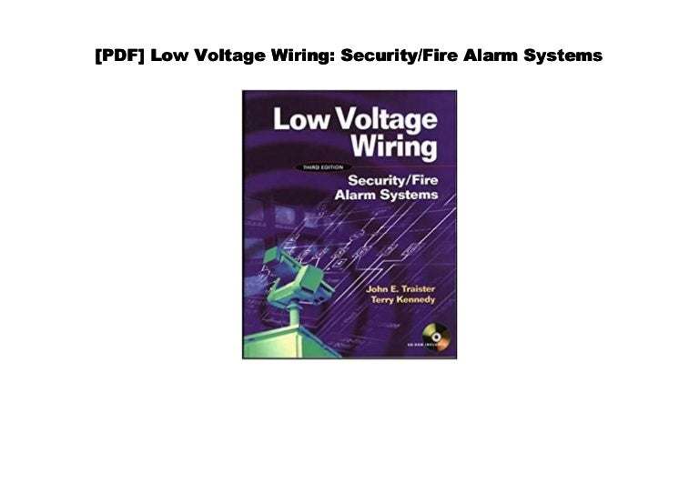 Pdf Low Voltage Wiring Security Fire Alarm Systems