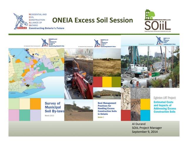 Oneia excess soils session, September 9, 2014