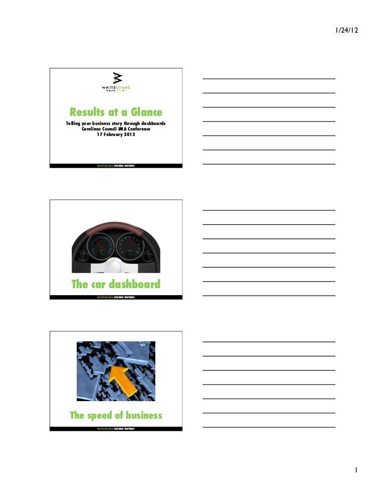 Session 1 Pdf slide notes business dashboard presentation
