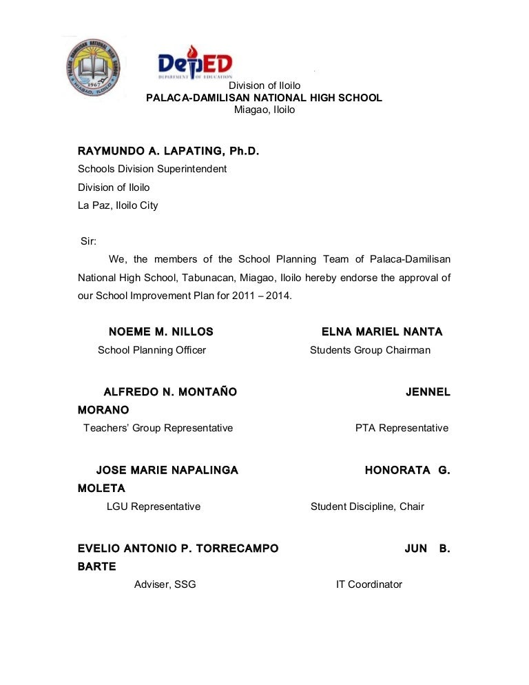 Pdnhs School Improvement Plan Sy 2011 2014 0014 C
