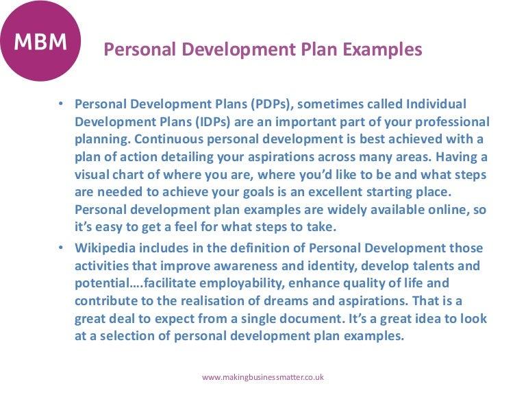 Personal Development Plans – Individual Personal Development Plan Sample