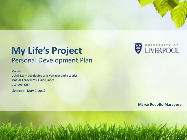 personal development planning examples
