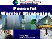 Peaceful warrior strategies1