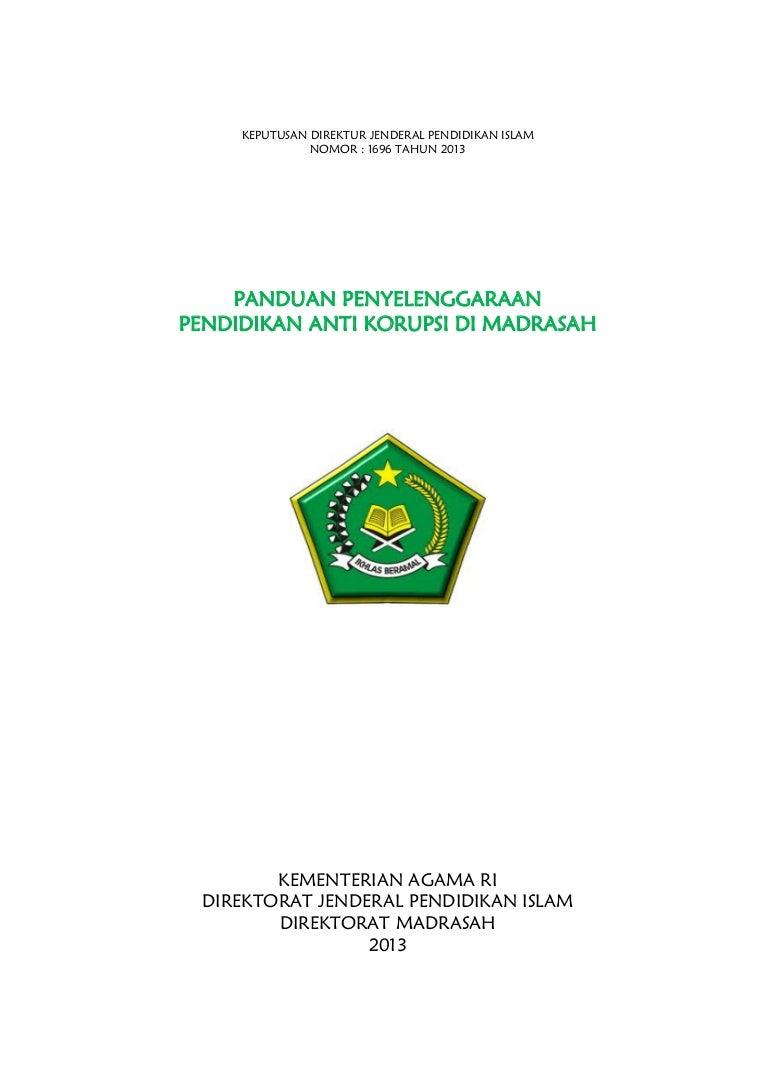 Pedoman Anti Korupsi Madrasah