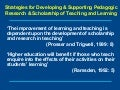 Strategies for Developing & Supporting Pedagogic Research & Scholarship of Teaching and Learning