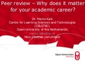 Peer review - Why does it matter for your academic career?