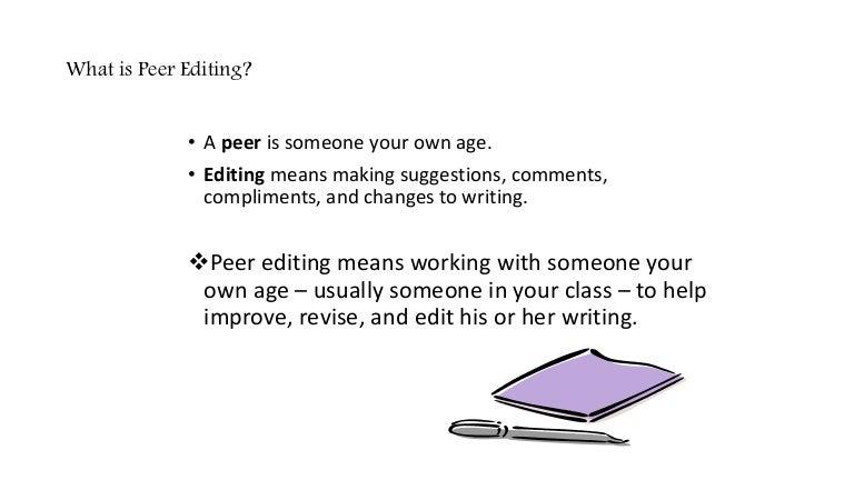 peer editing definition