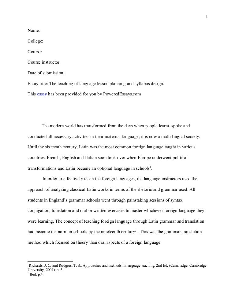essay about translation