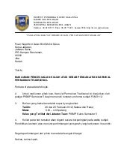 Surat Pelepasan Kuliah