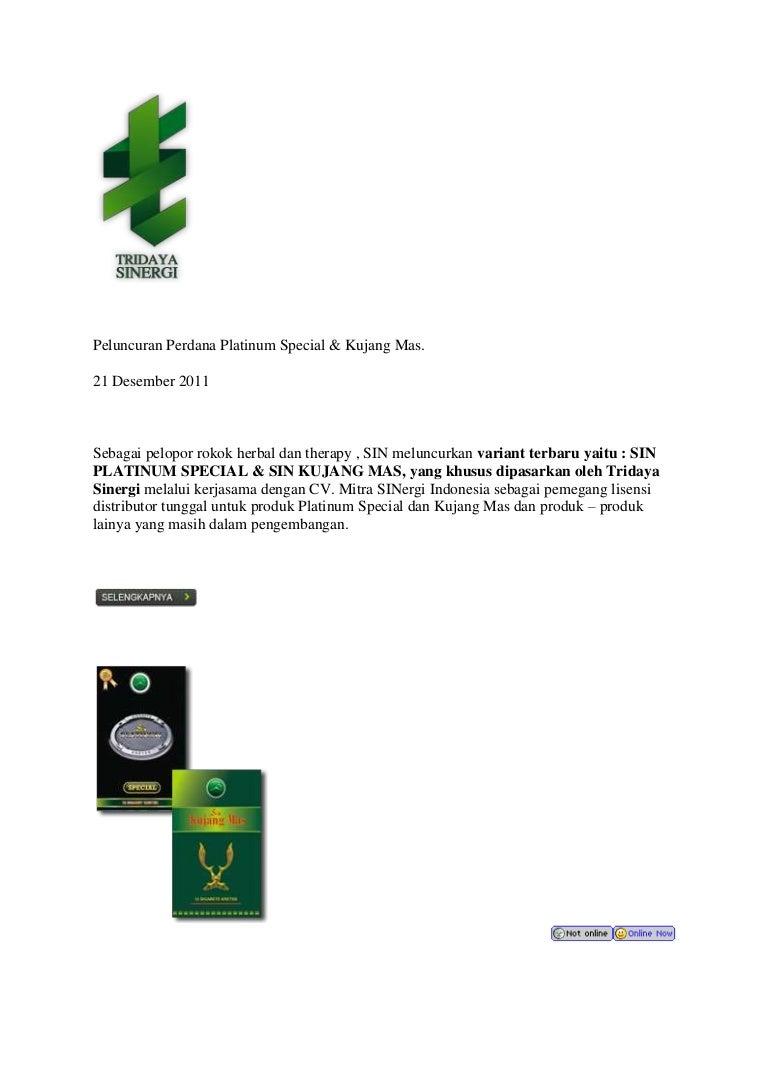 Jual Rokok Sin Herbal Update 2018 Hebal Mdl Mild Peluncuran Perdana Platinum Special