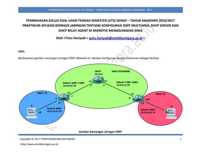 Pembahasan Solusi Soal UTS Genap Praktikum Aplikasi Berbasis Jaringan - STMIK Bumigora