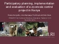 Participatory planning, implementation and evaluation of a zoonosis control project in Kenya