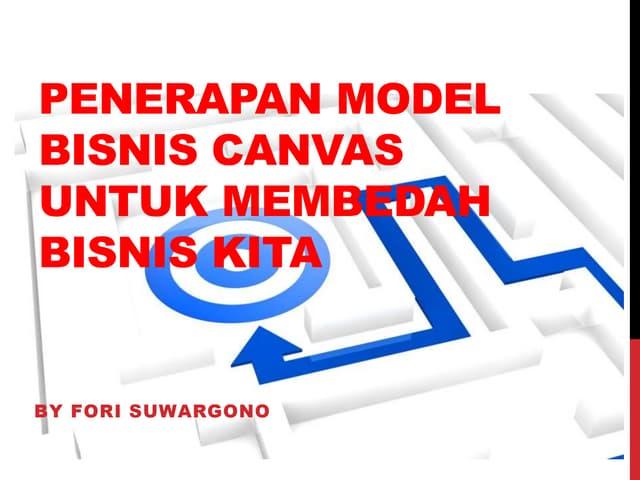 Penerapan model bisnis canvas untuk membedah bisnis kita