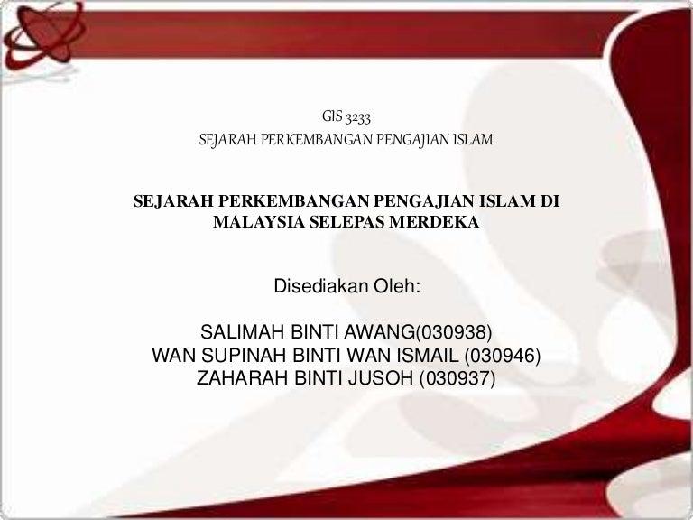Pengajian Islam Selepas Merdeka