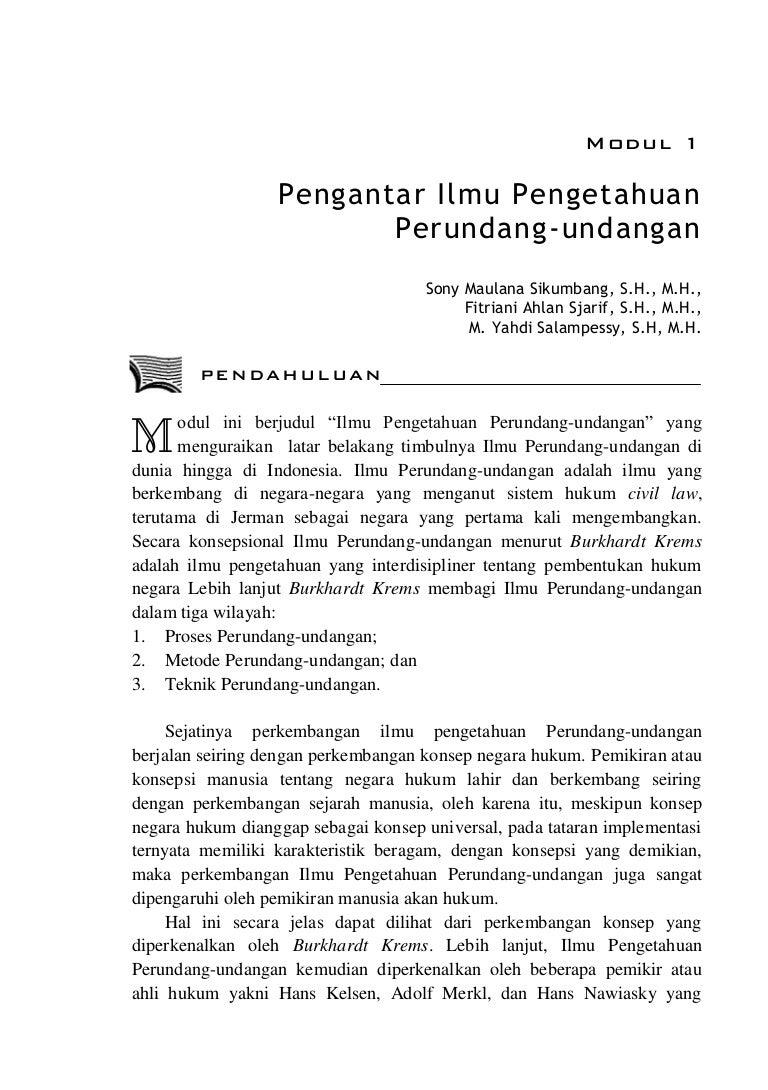 Materi Pengantar Ilmu Hukum Pdf