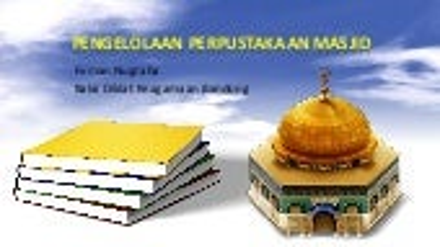Pengelolaan Perpustakaan Masjid