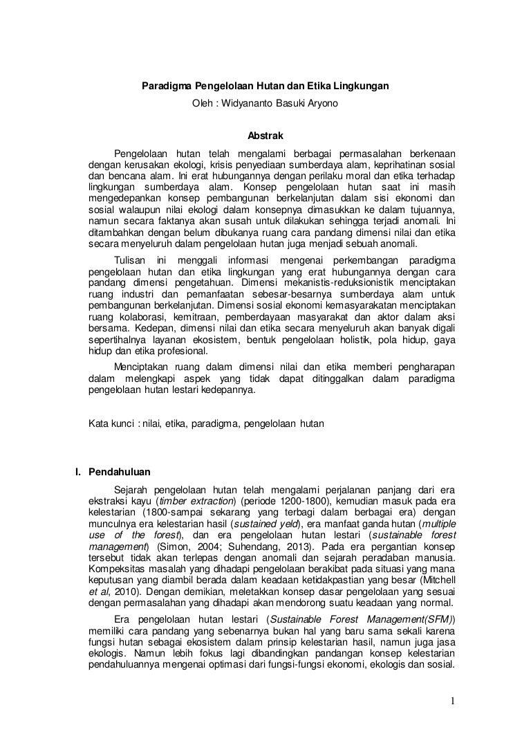 Pengelolaan Sumberdaya Lahan Dan Etika Lingkungan Paper Etika E2