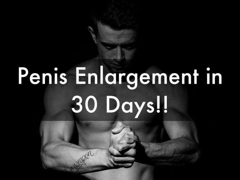 Penis Enlargement in 30 Days!: Natural Penis Enlargement Secrets Revealed