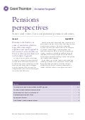 Grant Thornton - Pensions Perspectives Newsletter UK 2012