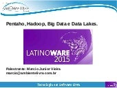 Pentaho Hadoop Big Data e Data Lakes