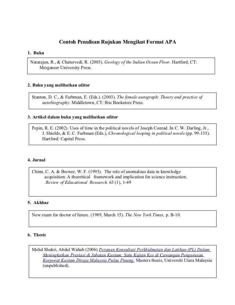 penulisan rujukan mengikut format apa contoh  1