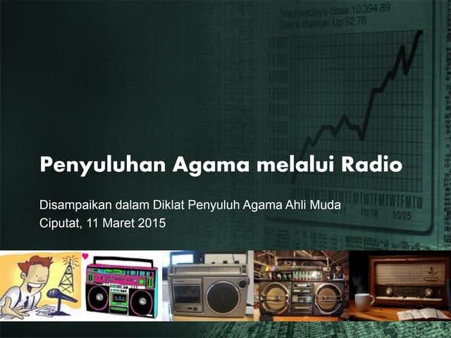 Penyuluhan agama melalui radio