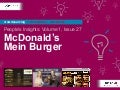 People's Insights Volume 1, Issue 27 : McDonald's Germany - Mein Burger