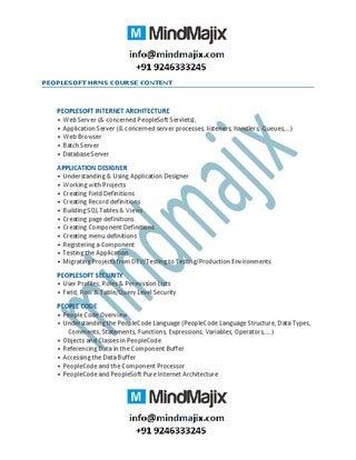 PeopleSoft developer CV Sample - Peoplesoft developer CV.