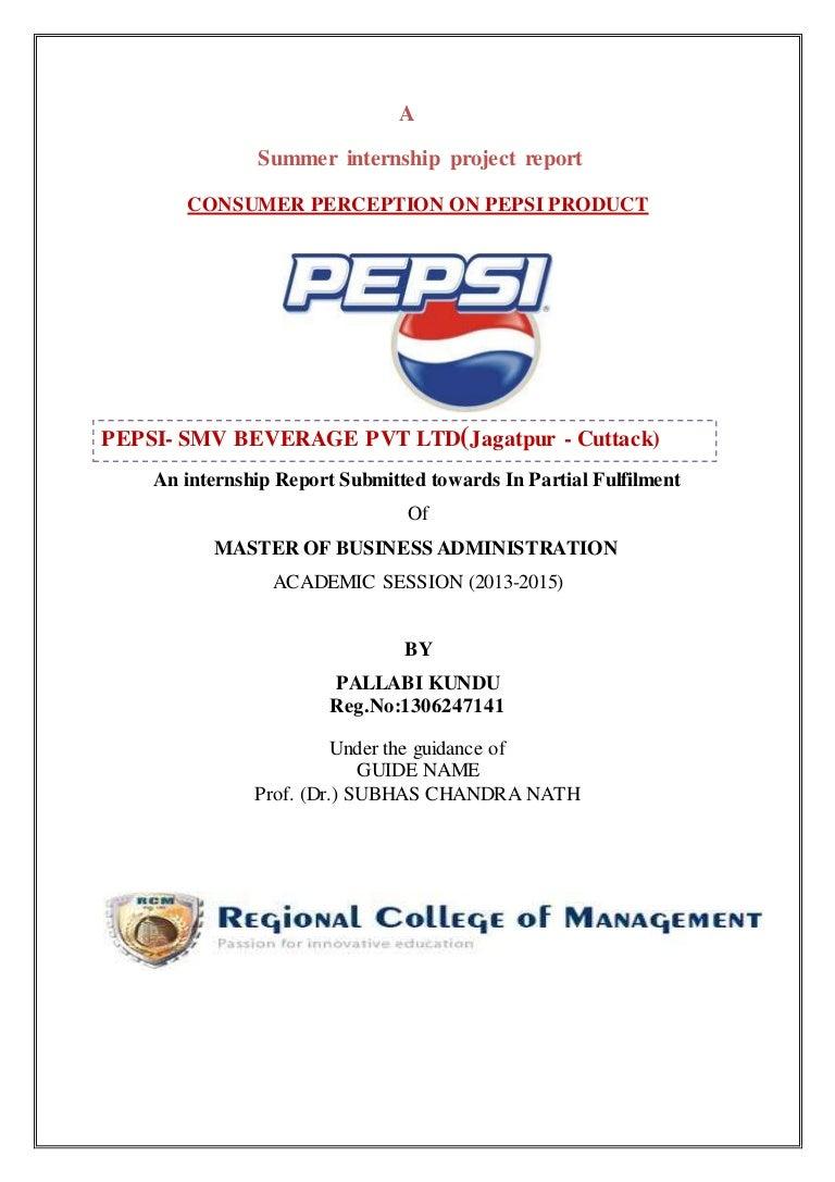Pepsi project pallabi