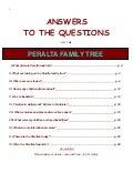 Peralta Family Tree - Q&A Book
