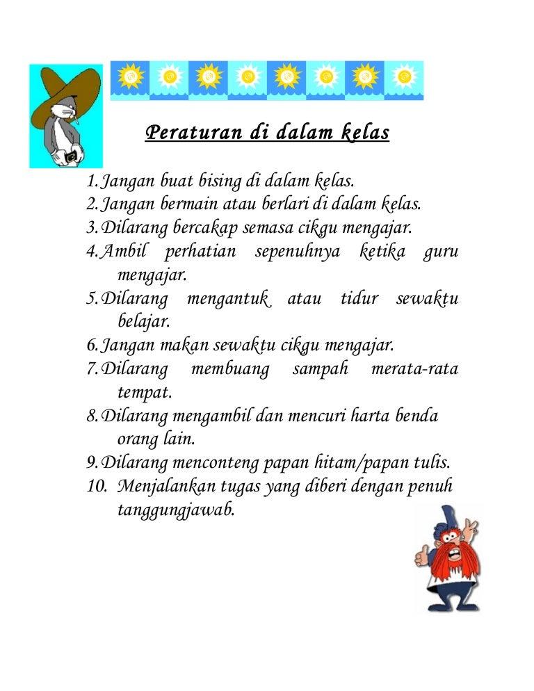 Peraturan Di Dalam Kelas