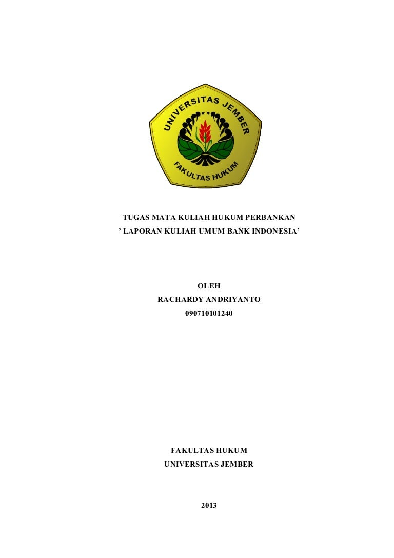 Laporan Kuliah Umum Bank Indonesia