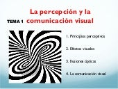 Percepcion y la comunicación visual