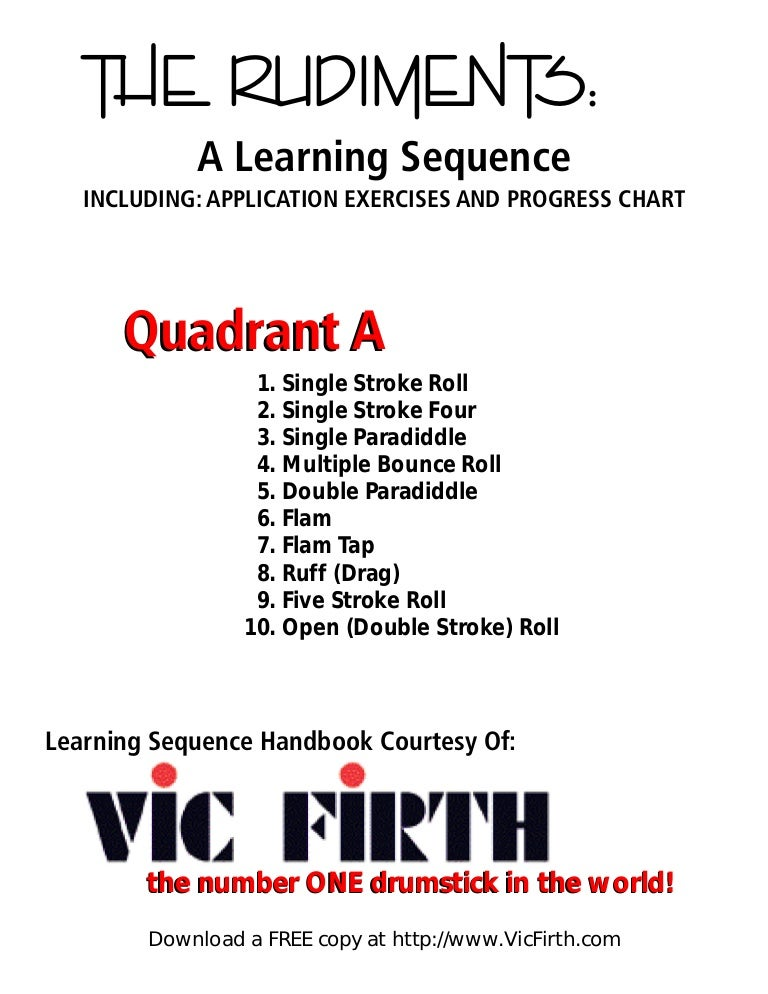 picture about Printable Drum Rudiments referred to as 40_rudiments_vic_firth.pdf
