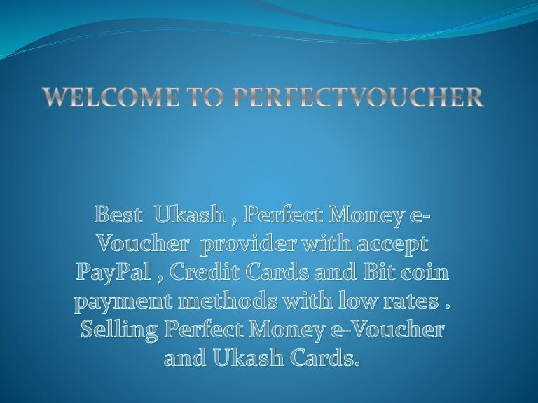 Buy Ukash With Paypal