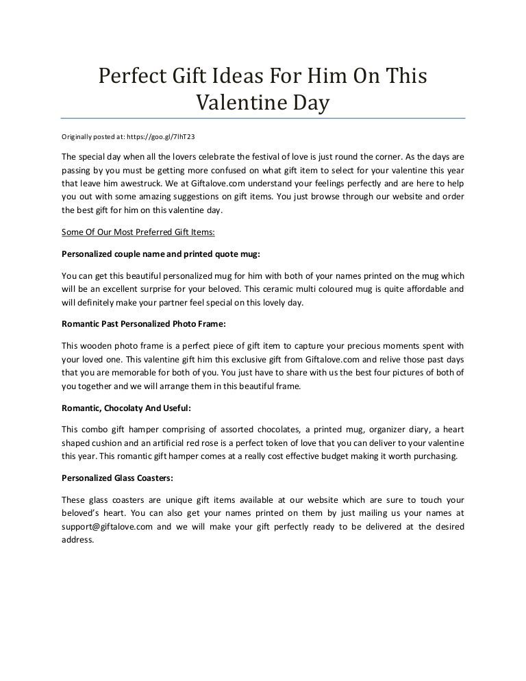 Perfect Gift Ideas For Him On This Valentine Day